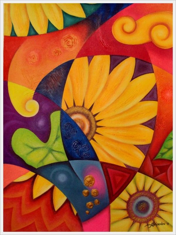 Simple Abstract Art Flowers Flower Paintings Are