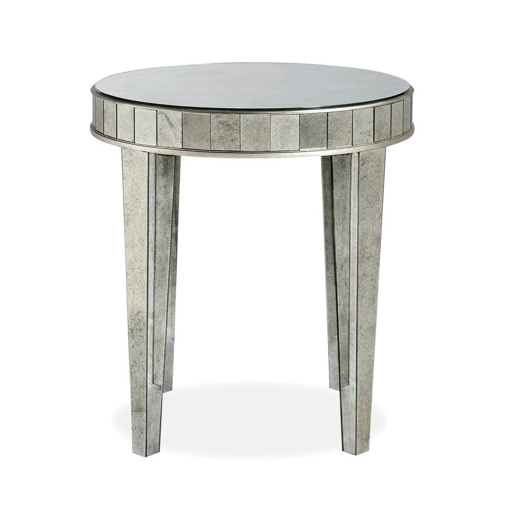 Bloomingdale S Estelle Round Mirrored Nightstand Products