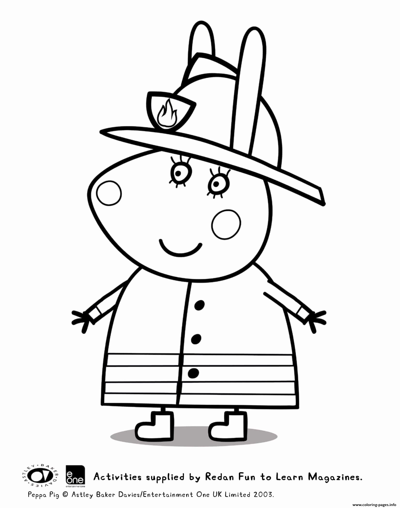 Coloring Cartoons Peppa Pig Unique Coloring Pages Miss