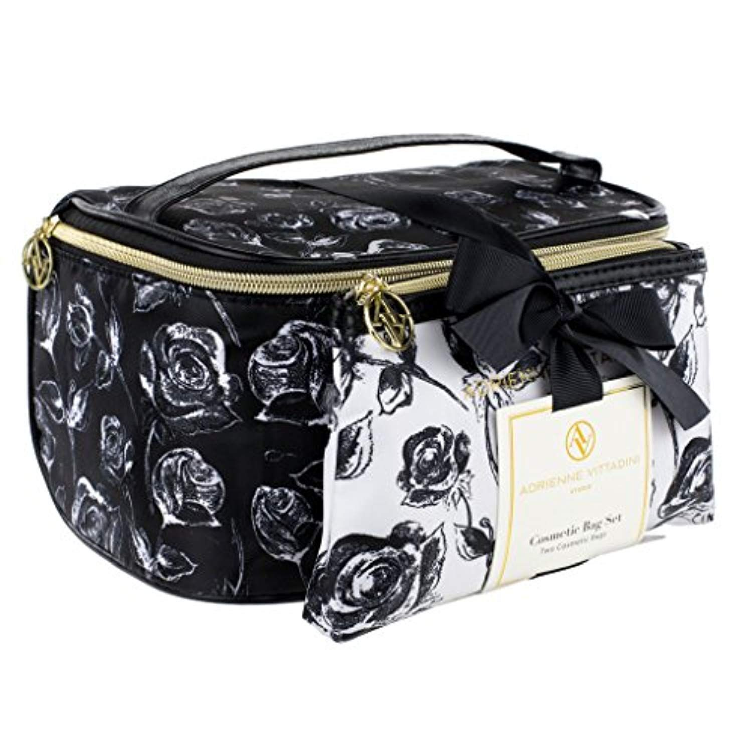 Adrienne Vittadini Makeup Bag Set  Nylon Carry On Toiletry...   Click image  for more details. (This is an affiliate link)  mascarareview 49177cc982f1e