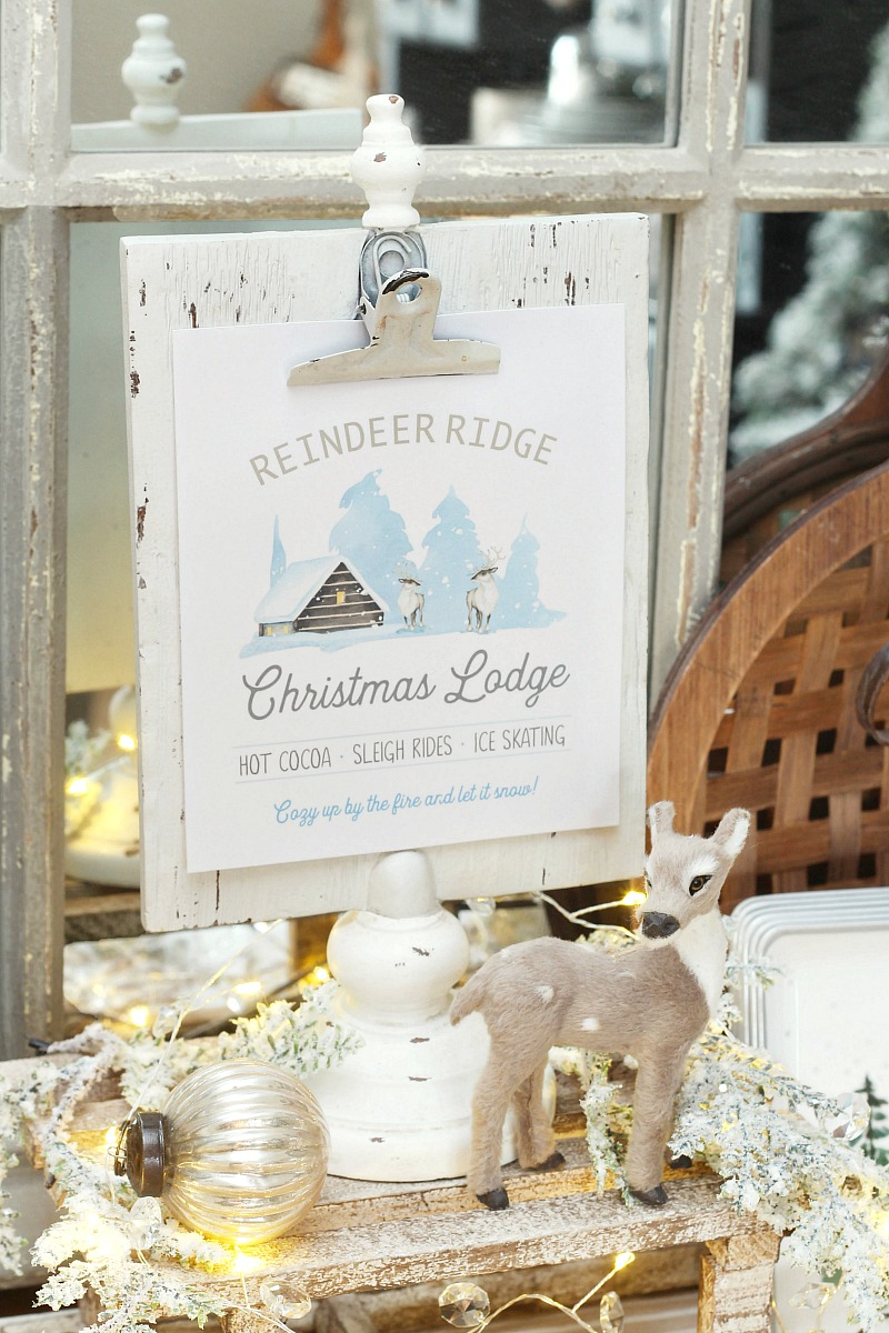 Reindeer Ridge Christmas Lodge Christmas Printable ...