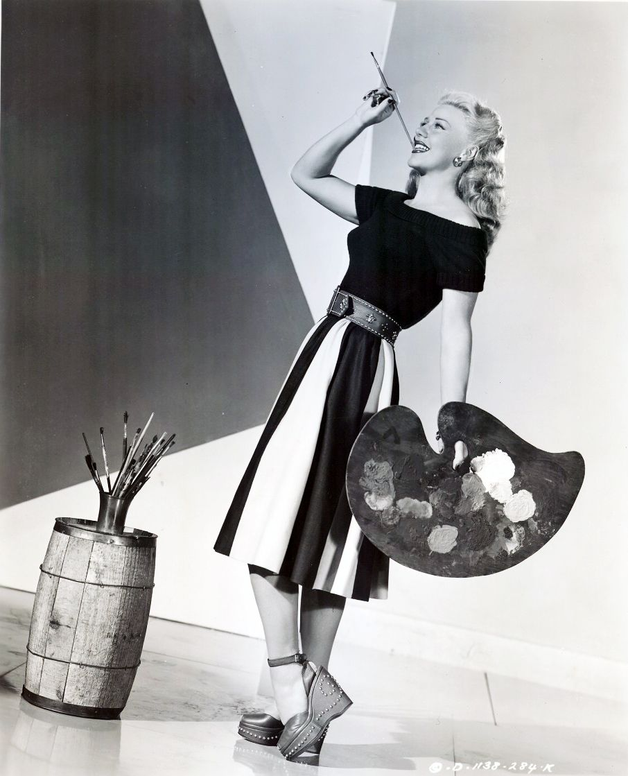 Ginger Rogers, 1947. Check out her shoes...could have been purchased yesterday!