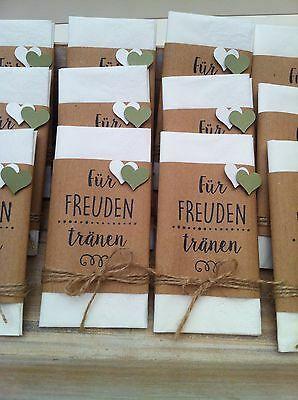 20 pañuelos para lágrimas de alegría -Regalo- decoración de bodas * Vintage * | eBay