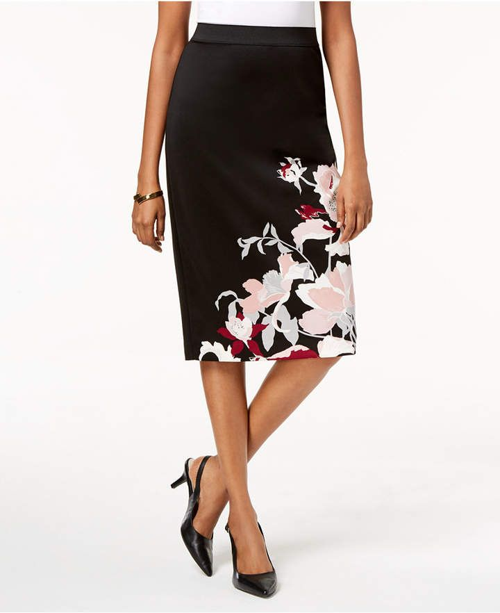 ca17f734e4 Alfani Printed Scuba Skirt | Products | Skirts, High waisted skirt ...