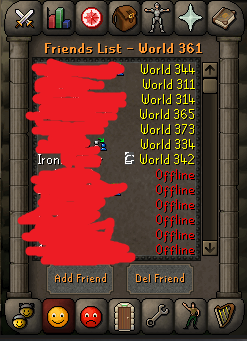 Can We Get An Ironman Symbol Next To Ironmen In Your Friends List So I Can Know Who To Delete Friends List Old School Runescape Iron Man