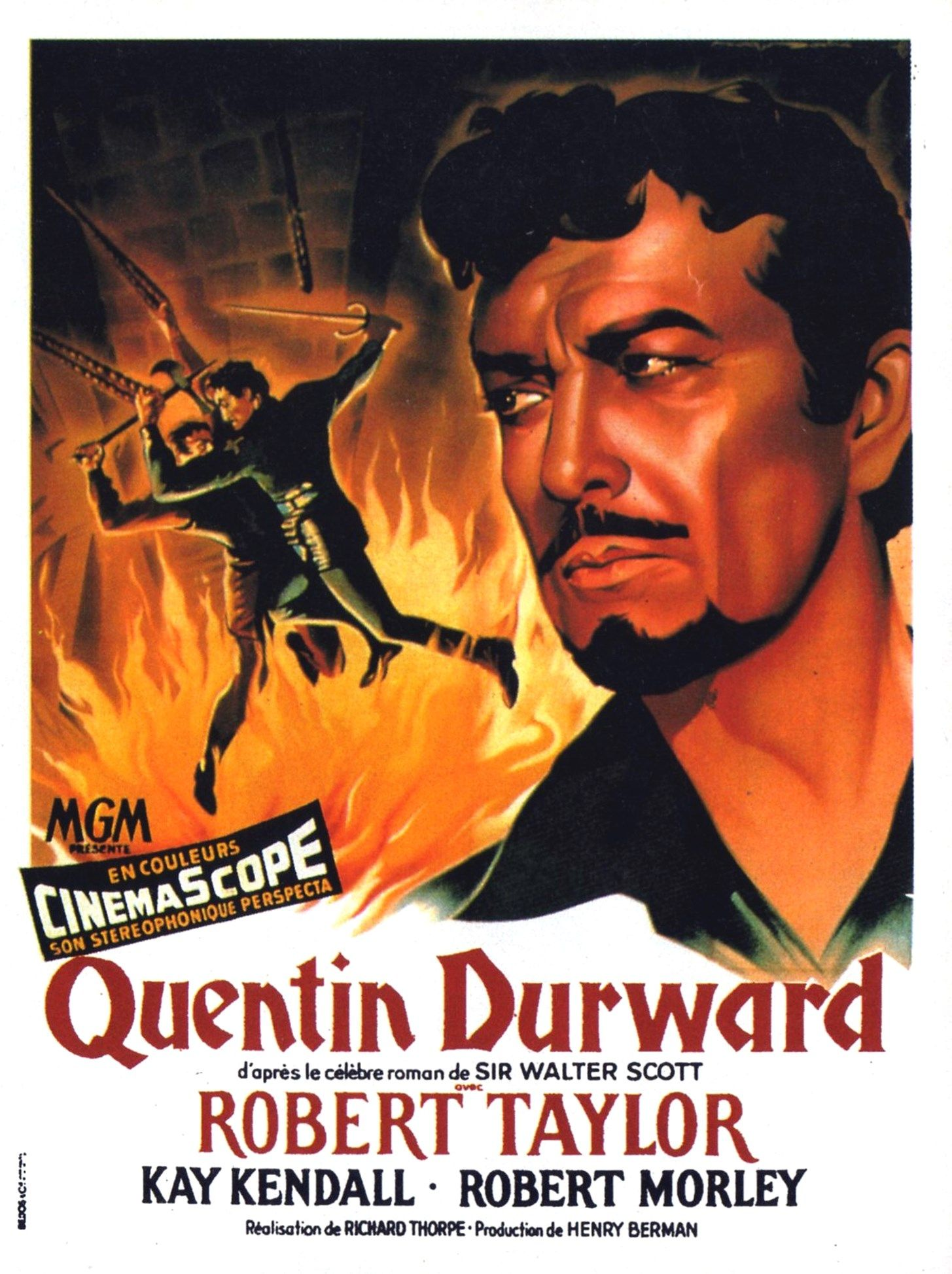 Quentin Durward Robert Taylor Affiche Cinema Roman