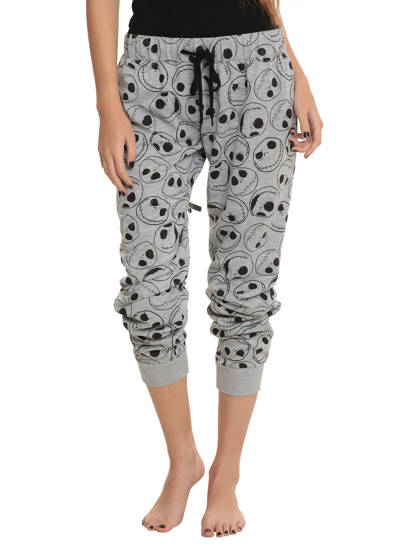 The Nightmare Before Christmas Jack Heads Girls Pajama -9277