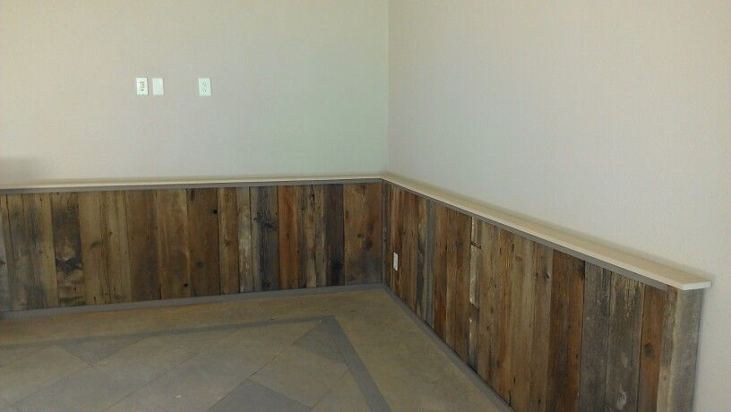 Our Reclaimed Wood Wainscotting Turned Out Great