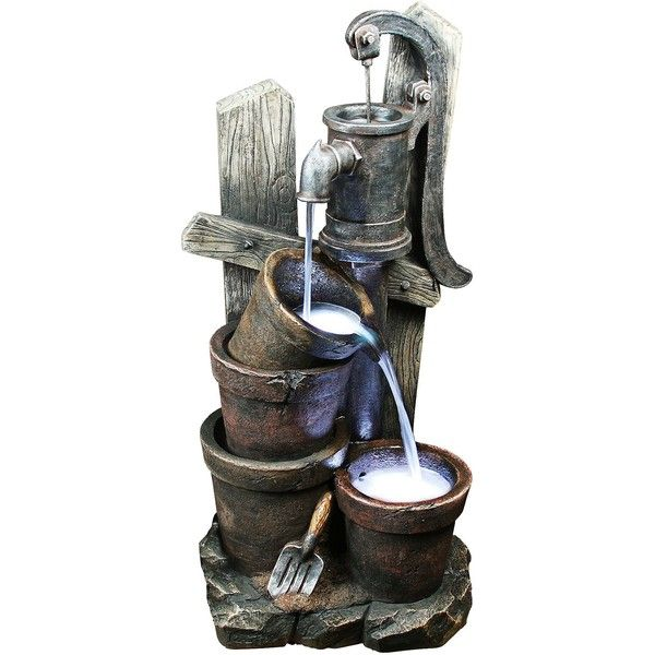 Yosemite Home Decor Yosemite LED Double Bucket Water Well Fountain ...