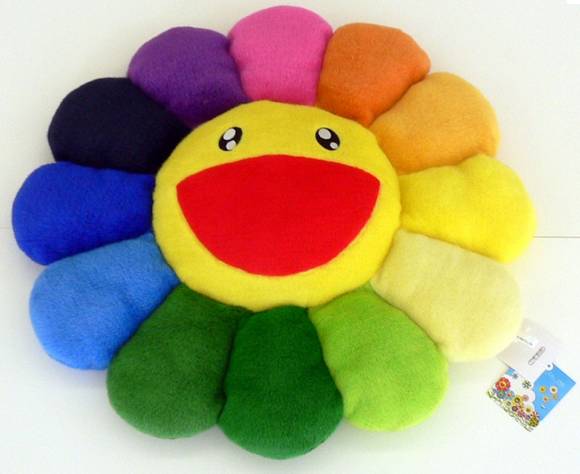 (TAKASHI MURAKAMI) Flower cushion plush rainbow