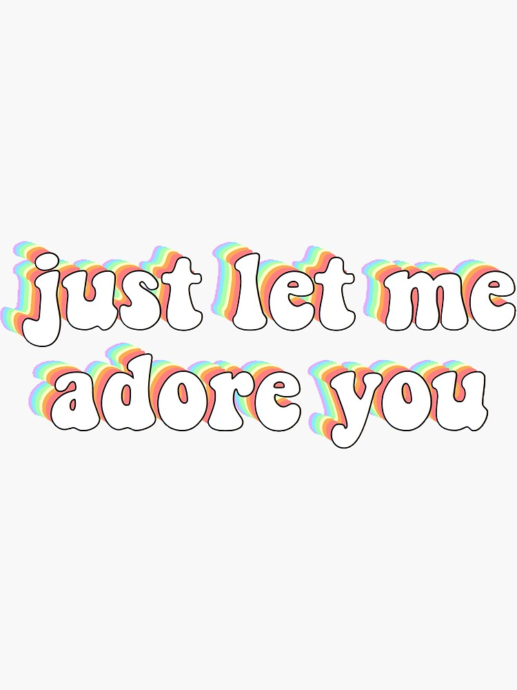 Adore Du Lyrics Harry Styles Fine Line' sticker af ange11y