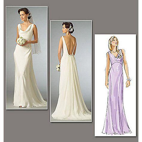 Vogue Women\'s Bridal Original Dresses Sewing Pattern, 2965 | Dress ...