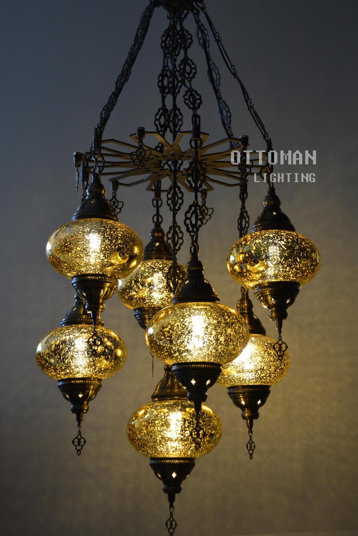 Laser Handmade Turkish 7 Globe Stunning Chandelier Morrocan Etsy In 2020 Traditional Chandelier Chandelier Modern Chandelier