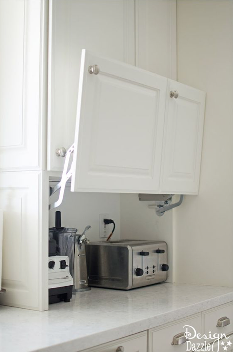 Cabinet that goes to counter for blender toaster juicer etc