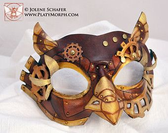 Made To Order SteamOwl Leather Steampunk Owl Cosplay Mask Various Colors