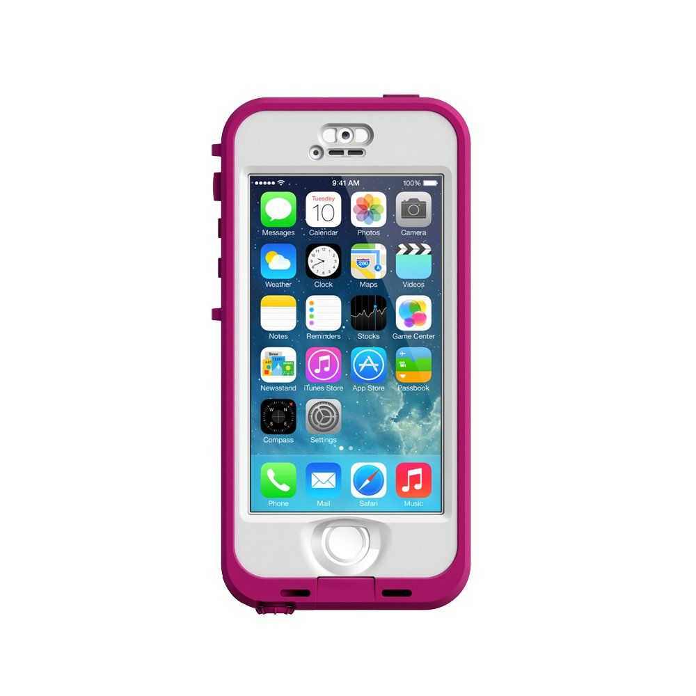 online store 8a25b ffb84 Lifeproof iPhone 5s - Nuud Series - Blaze Pink/Clear:Amazon:Cell ...