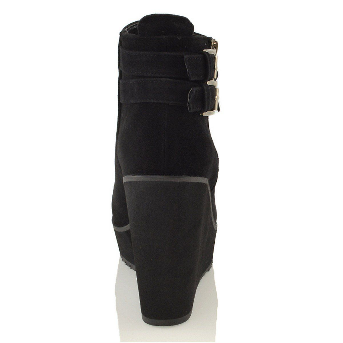 chunky wedge ankle boots