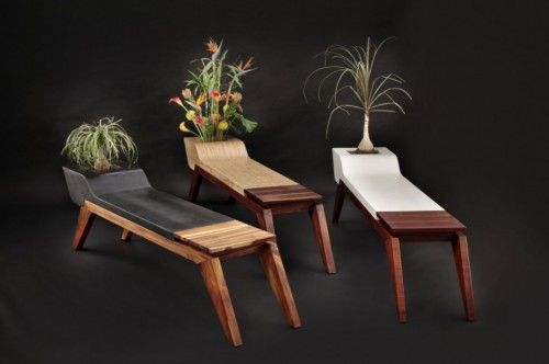 Designer: Jory Brigham  The idea to combine furniture designs with plants like nothing new, but this was different in the hands of Brigham Jory through the design idea with the concept of modern furniture designs, actually looks very unique and creative, using organic materials