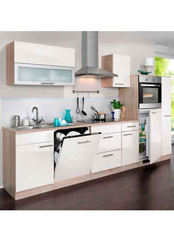 Wiho Küchen Küchenzeile mit E - Geräten »Montana Glanz, Breite 300 - küchenblock ohne e geräte