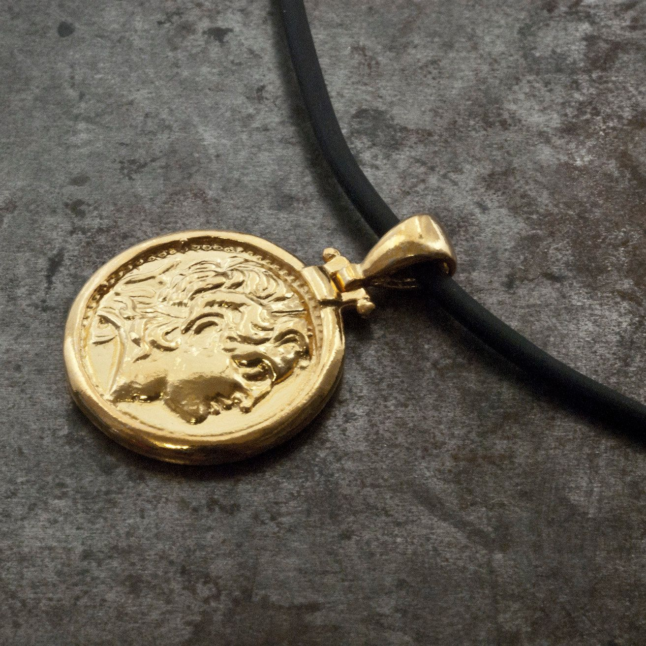 Gold greek ancient coin necklace men coin pendant alexander the gold greek ancient coin necklace men coin pendant alexander the great greek coin necklace mozeypictures Choice Image