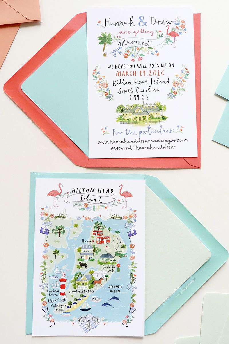 Jolly Edition custom wedding custom save the date and wedding map ...
