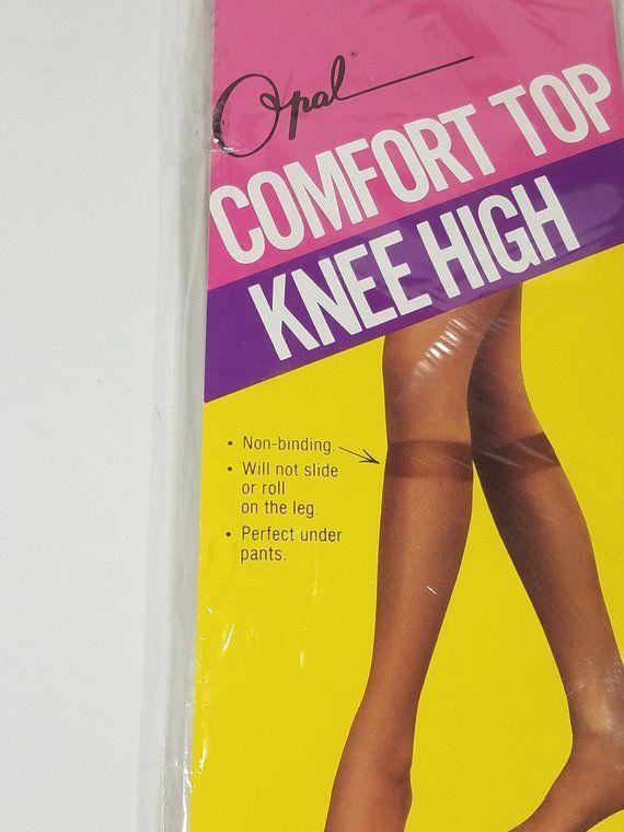 df3b9b99739 NIP Opal comfort top knee high pantyhose nylons stockings ladies Mystic  Beige demi toe size 8.5-11