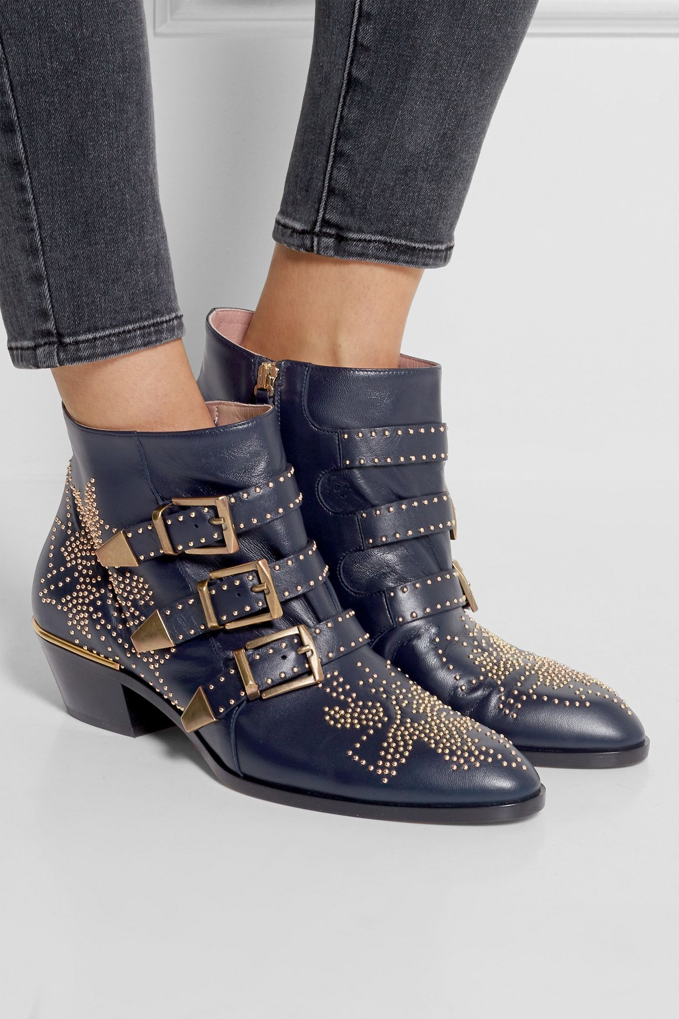 f085594e0e29 CHLOÉ Susanna studded leather ankle boots €950.00 https   www.net-