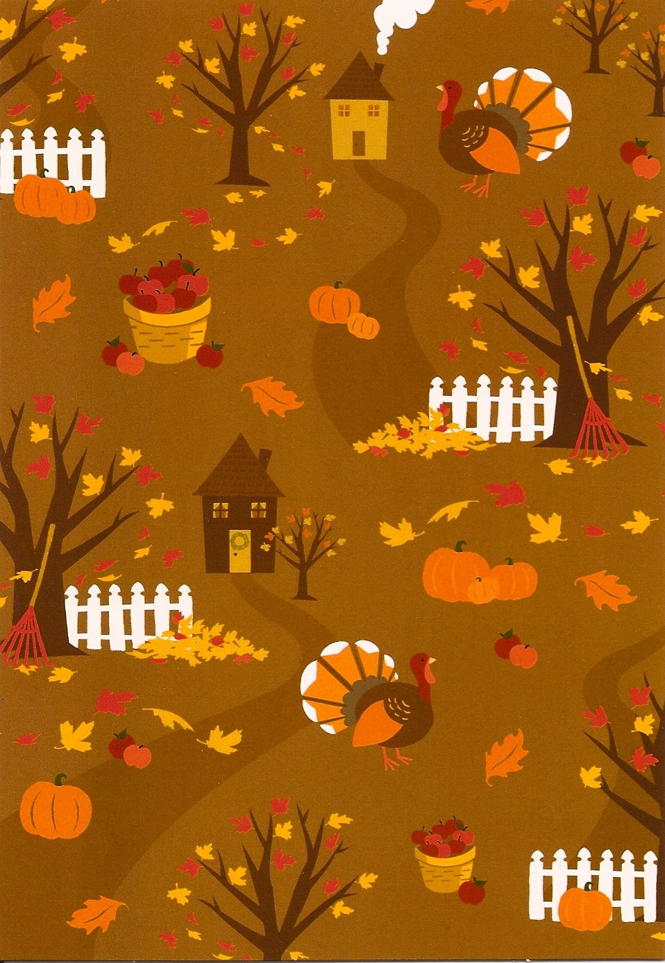 Thanksgiving card. Fall wallpaper