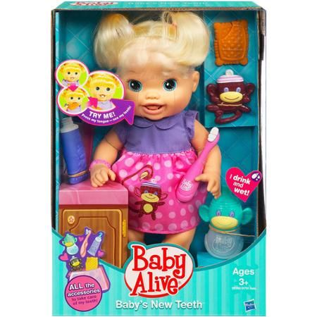 Baby Alive Baby S New Teeth Doll Blonde Walmart Com Baby Alive Baby Alive Dolls Baby Doll Accessories