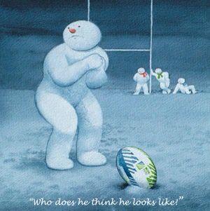 Johnny Wilkinson in snow man form!