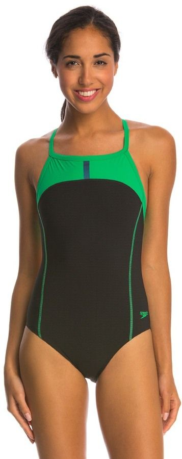 4693ef9f43 Swimwear Sports Apparel Speedo Bolt Splice Drill Back Powerplus Onepiece  Swimsuit