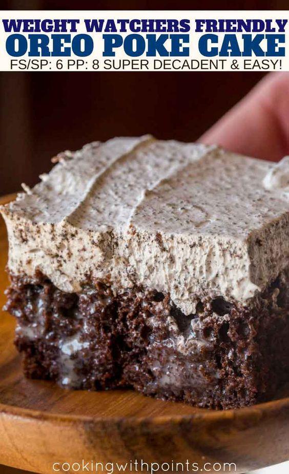 Oreo Poke Cake Recipe Desserts Oreo Poke Cakes Low