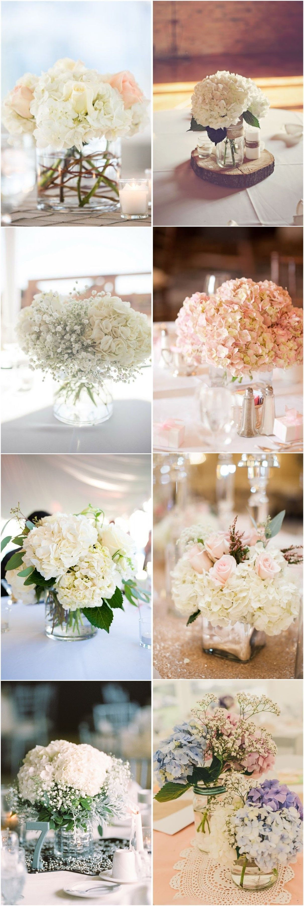 Wedding Centerpieces » 21 Simple Yet Rustic DIY Hydrangea Wedding ...