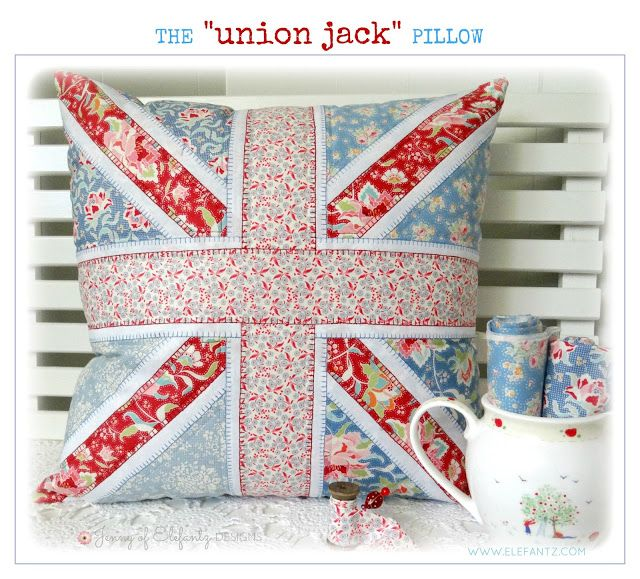 Jenny of ELEFANTZ: Free pattern!! Sew a Union Jack pillow with me ...