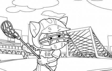 Lacrosse Coloring Page | Crafts To Try | Pinterest