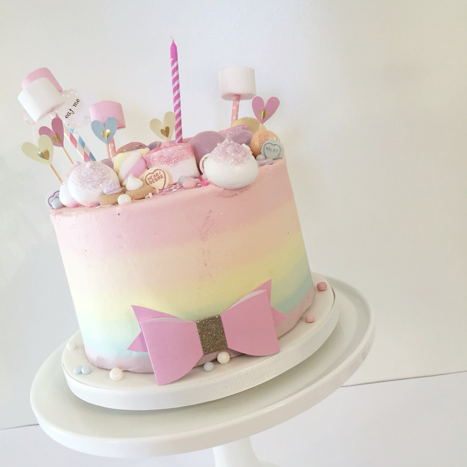 Admirable Pretty Pastel Ombre Unicorn Cake Whiskpatisserie Co Uk With Personalised Birthday Cards Xaembasilily Jamesorg