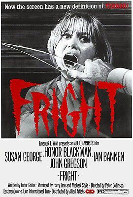 Image result for fright movie poster with susan george