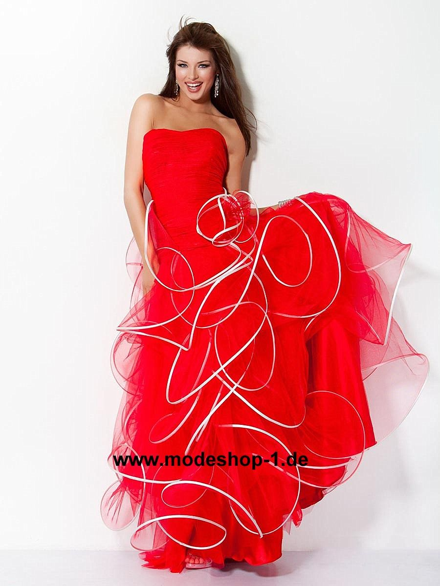 Rotes designer abendkleid