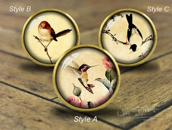 Bird -- Drawer knobs/ Handmade Vintage Bronze Dresser knobs cabinet Dresser Knobs pull / Dresser Pull / Cabinet Knobs / Furniture Knobs