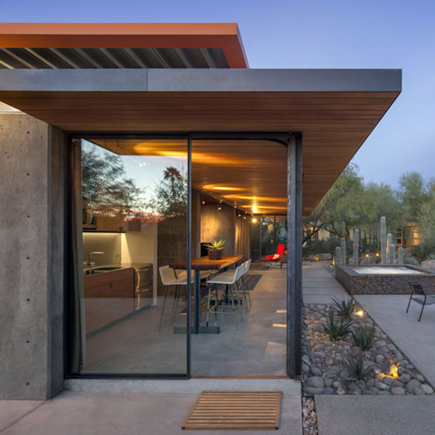 Tagged doors exterior metal and sliding door type photo 4 of 12 in an old horse barn is repurposed as a chic desert guesthouse