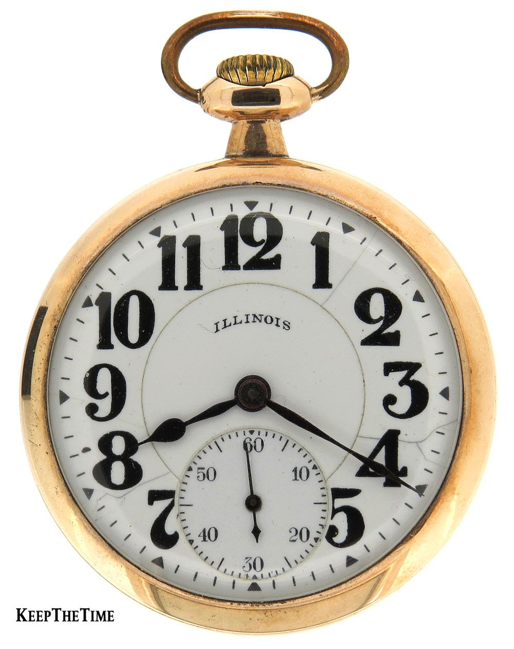 7dba0dba7 Illinois Bunn Special Pocket Watch Co Springfield 21J Circa 1920 :  KeepTheTime.com: Online Watch Store to Buy, Sell & Trade New & Pre-Owned  Authentic ...