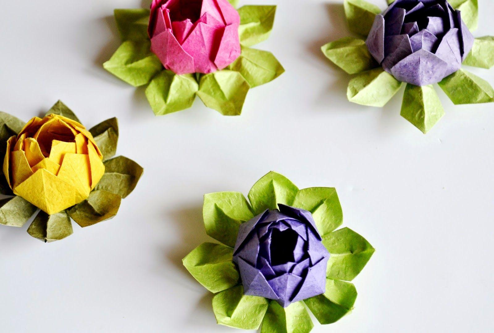 Katla Kk Eyler Origami Nilfer Yapm Ii Origami Lotus