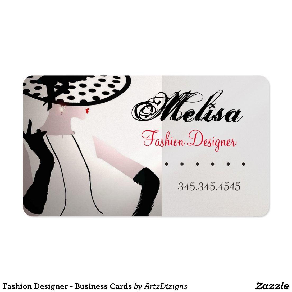 Fashion Designer - Business Cards  http://www.zazzle.com/artzdizigns&rf=238365382999242687