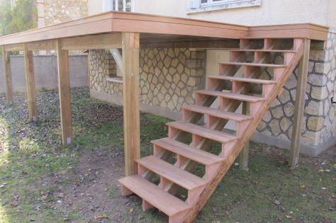 Faire une escalier avec des lames de terrasse en bois ipé terrasse