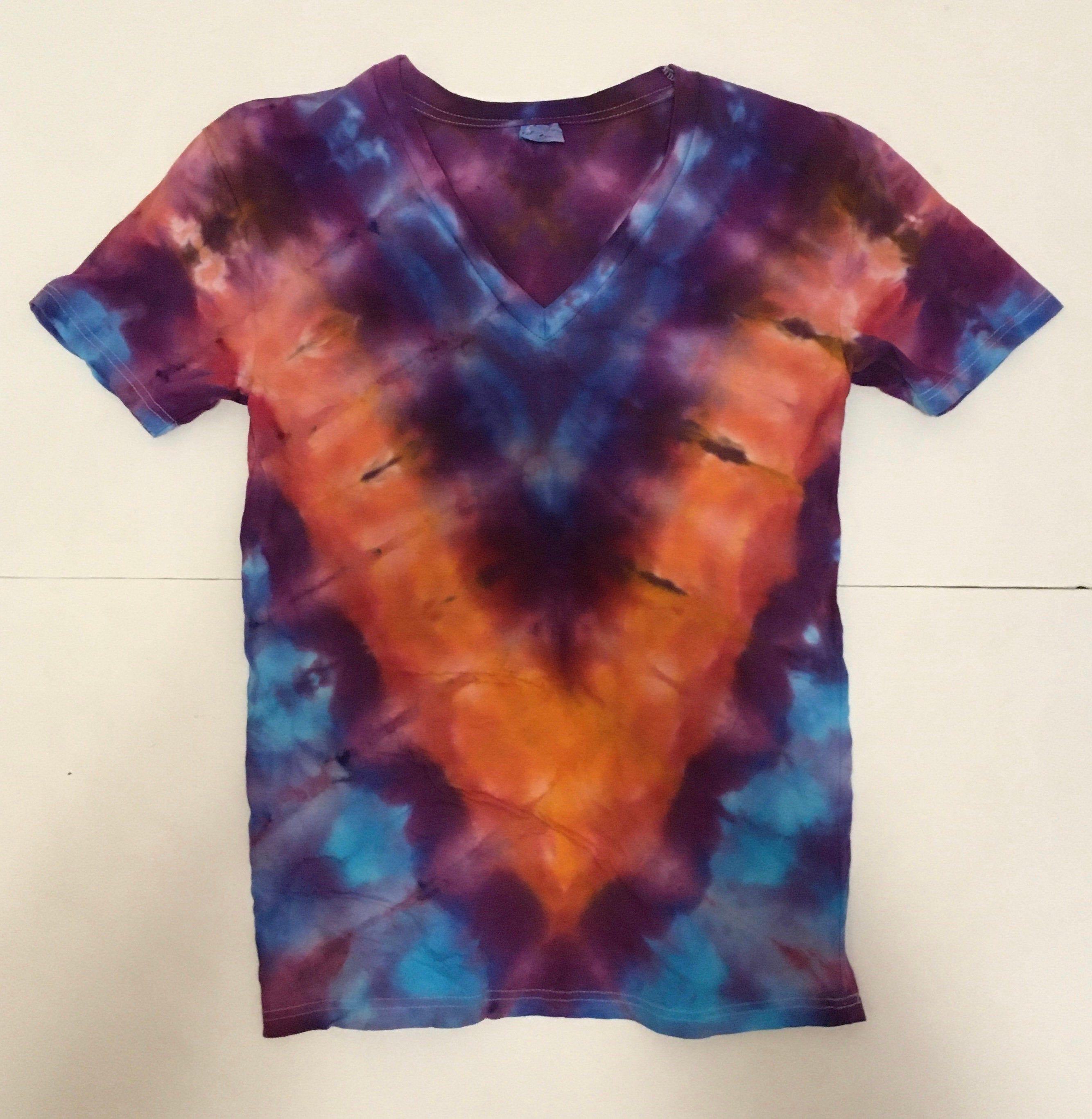 Tie Dye Shirt Adult Medium V Neck Tie Dye T Shirts Shirts