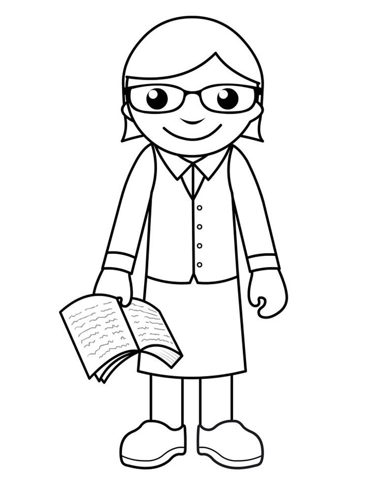 Community Helpers Teacher Coloring Page We Must Know The Police Postmen Firefighters Soldiers Doct Coloring Pages Coloring Sheets Printable Coloring Pages