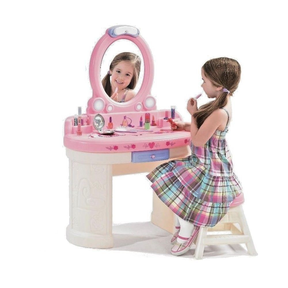 Role Play Vanity Toy Table Mirror Makeup Beauty Princess