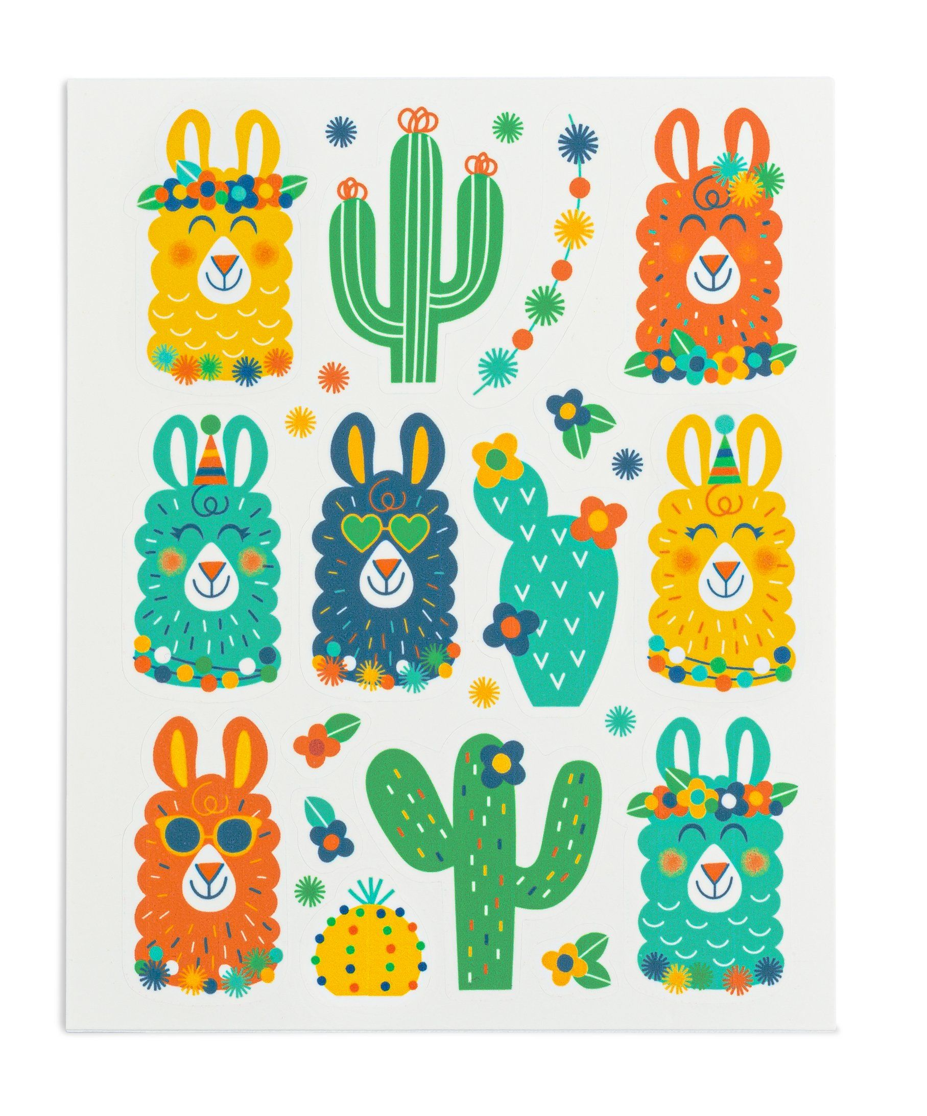 Photo of Green Party Llama Stickies® – 2 sheets/24 stickers