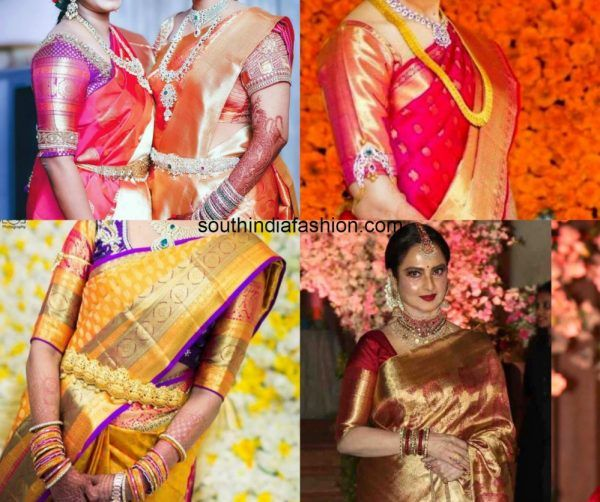 0c38683aa3511 Big Border Blouse Patterns For Your Kanjeevarams