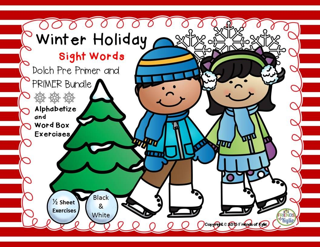 Winter Holiday Pre Primer And Primer 1 2 Sheet Exercises